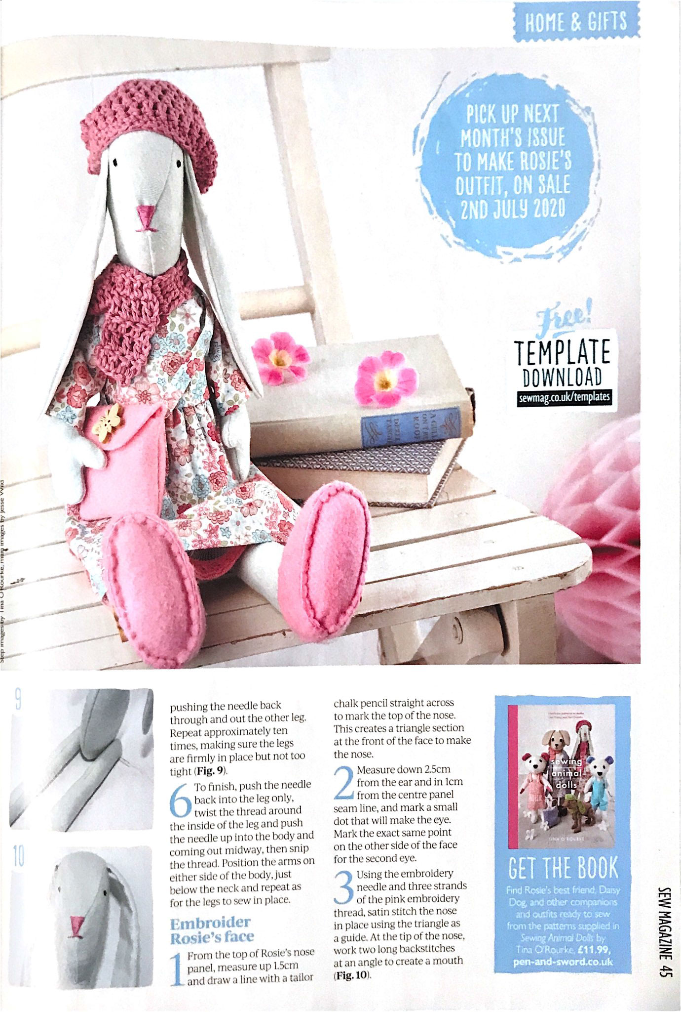 Sew magazine July 2020